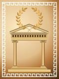 古色古香的背景希腊 免版税库存图片