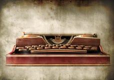 古色古香的背景打字机葡萄酒 库存例证