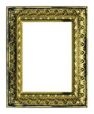 古色古香的背景框架金子高查出的老解决方法白色 库存图片