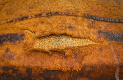 古色古香的背景黑暗皮革老 了不起的纹理细节 库存照片