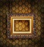 古色古香的脏的墙纸 免版税库存图片