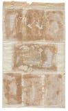 古色古香的脏的老纸张 免版税库存照片