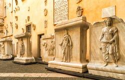 古色古香的艺术作品在Capitoline博物馆在罗马 库存图片
