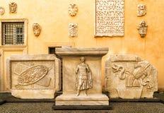 古色古香的艺术作品在Capitoline博物馆在罗马 免版税库存照片