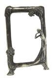 古色古香的艺术装饰框架照片银 免版税库存照片