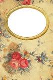 古色古香的花卉日志盖子 免版税库存照片