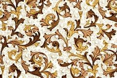 古色古香的花卉纸模式 免版税库存照片