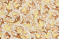 古色古香的花卉纸模式 库存照片