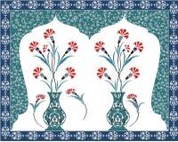 古色古香的花束设计无背长椅 免版税图库摄影
