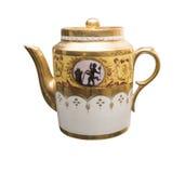 古色古香的茶壶19世纪 免版税库存照片