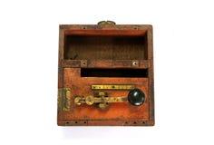古色古香的莫尔斯电报键 免版税库存照片