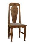 古色古香的葡萄酒拉脱维亚全国艺术装饰椅子 免版税图库摄影