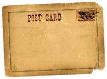 古色古香的葡萄酒明信片空白 免版税库存照片