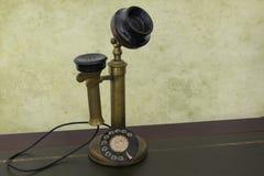 古色古香的葡萄酒电话 图库摄影