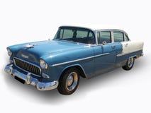 古色古香的蓝色卡迪拉克汽车查出的&# 库存照片