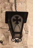 古色古香的街道墙壁灯笼 库存照片