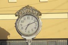 古色古香的街道时钟, Lompoc,加州 库存照片
