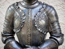 古色古香的装甲服 免版税库存照片