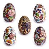 古色古香的装饰复活节彩蛋 库存图片