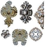 古色古香的装饰金属 免版税库存照片