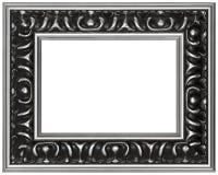 古色古香的设计员框架查出的照片 免版税库存照片