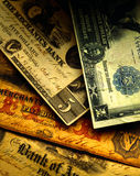 古色古香的货币我们 库存图片