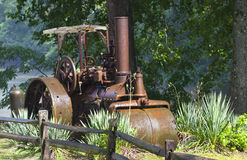 古色古香的路辗蒸汽 免版税库存图片