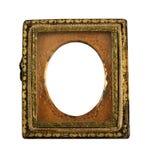 古色古香的达盖尔银版金属框架 免版税图库摄影