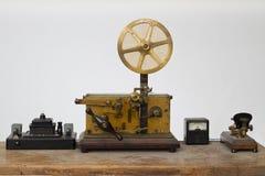 古色古香的通信机设备 库存照片