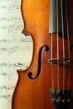 古色古香的部分小提琴 免版税库存照片