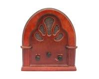 古色古香的配件箱收音机 库存照片