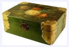 古色古香的配件箱珠宝 库存图片