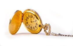 古色古香的金矿穴葡萄酒手表 免版税库存图片