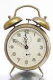 古色古香的金黄时钟 库存图片