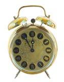 古色古香的金黄时钟 图库摄影