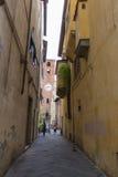 古色古香的钟楼在卢卡 托斯卡纳 意大利 图库摄影