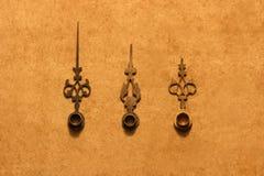 古色古香的钟针 图库摄影