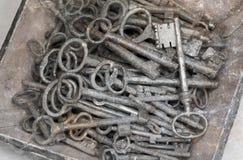 古色古香的钥匙的选择 免版税图库摄影