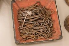 古色古香的钥匙的选择 图库摄影