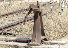 古色古香的铁路开关 免版税库存图片