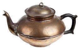 古色古香的铜罐 免版税库存图片