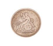 古色古香的银元 免版税库存图片
