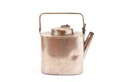 古色古香的银色水壶 免版税库存照片