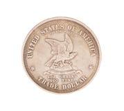古色古香的银色美国硬币 免版税图库摄影