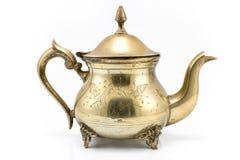 古色古香的银色茶壶 图库摄影