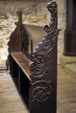 古色古香的长木凳 库存照片