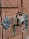 古色古香的门、匙孔和把柄- 4 免版税图库摄影