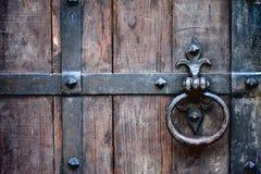 古色古香的门把 图库摄影