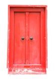 古色古香的门红色 免版税库存照片