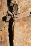 古色古香的门锁 免版税图库摄影